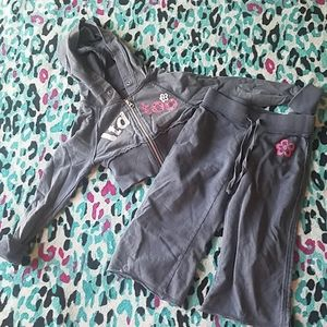 Girls' Limited Too Grey Jacket & Sweats Set